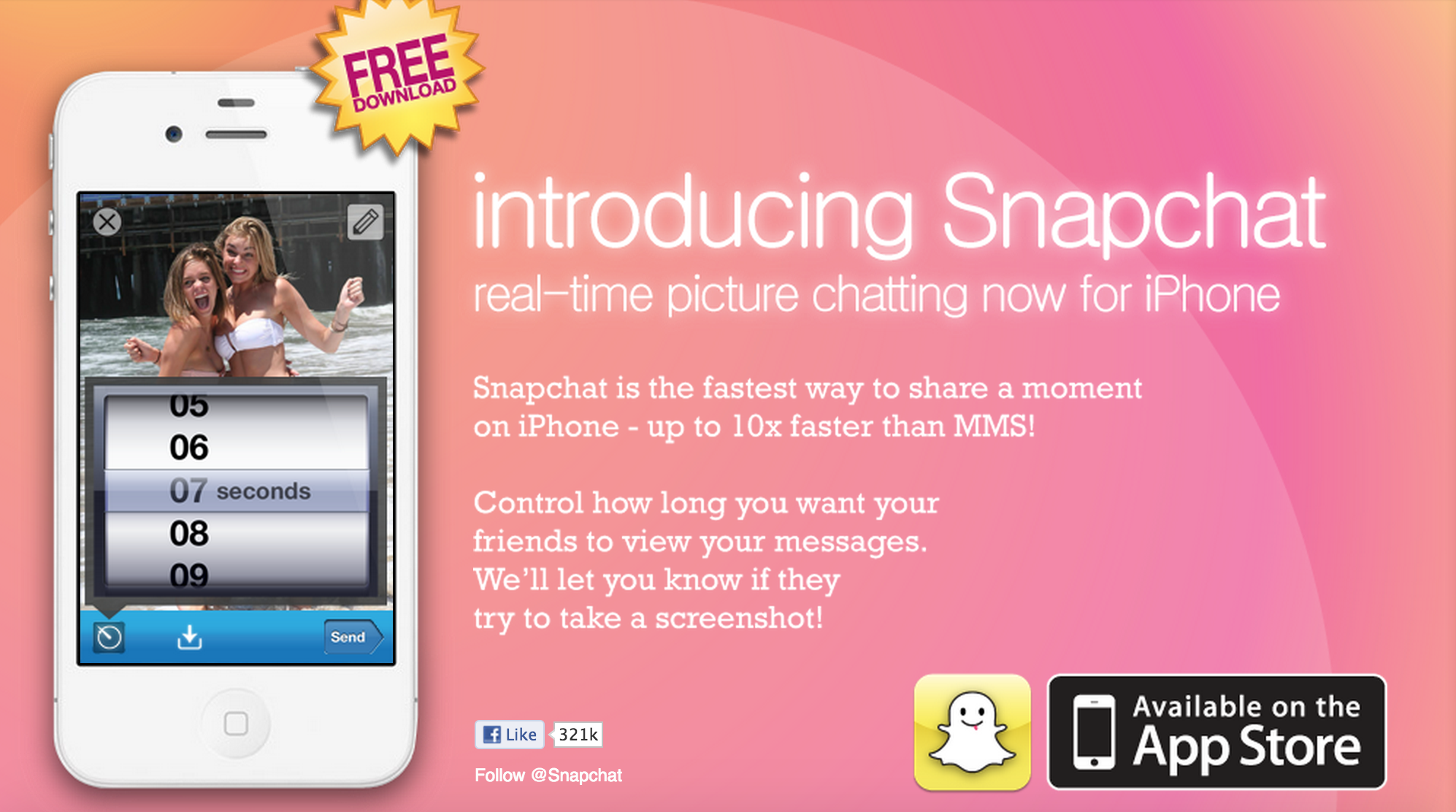 Snapchat First Website